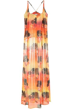 AMIR SLAMA Damen Freizeitkleider - Printed long dress
