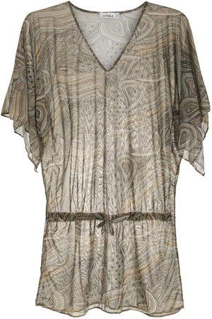 AMIR SLAMA Damen Bedruckte Kleider - Printed beach dress