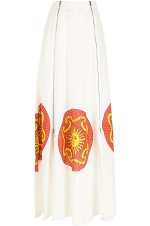 AMIR SLAMA Printed long skirt