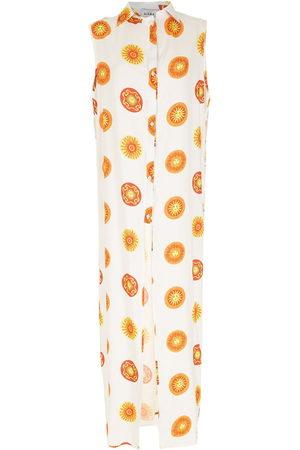 AMIR SLAMA Damen Bedruckte Kleider - Print Sol long beach dress