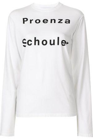 PROENZA SCHOULER WHITE LABEL Long sleeve logo T-shirt