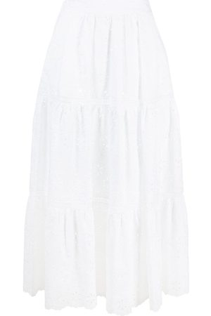 P.a.r.o.s.h. Embroidered midi skirt