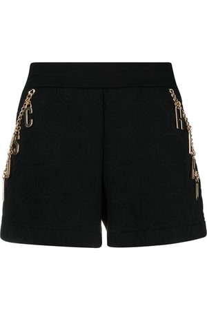 Moschino Damen Shorts - X Smiley fleece shorts