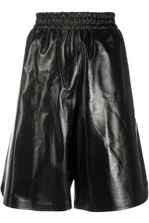 Bottega Veneta Knee-length leather shorts