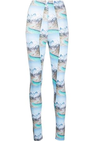 Maisie Wilen Mountain print high-waisted leggings
