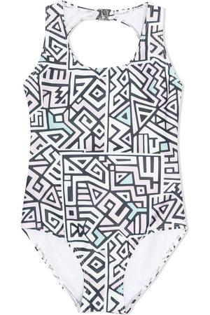 Le pandorine Geometric print swimsuit