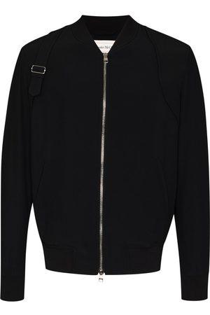 Alexander McQueen Harness detail bomber jacket