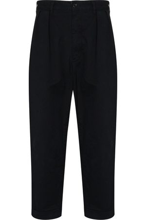 Beams Dart-detailing cropped trousers