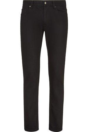 Fendi FF embroidered slim-fit jeans