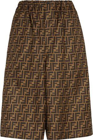 Fendi FF print knee-length shorts