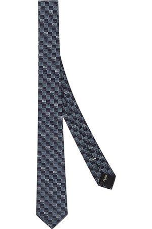 Fendi Micro FF logo-print tie