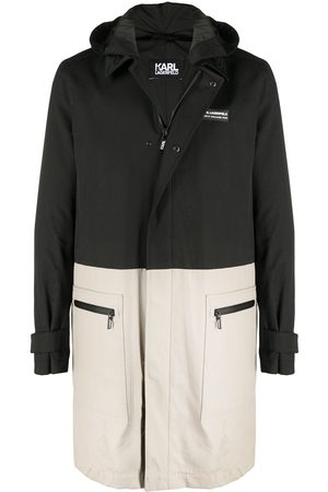 Karl Lagerfeld Two-tone hooded coat