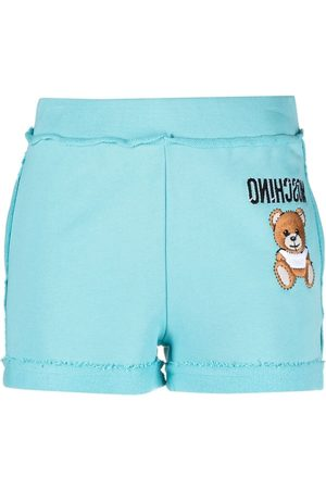 Moschino Teddy motif embroidered track shorts