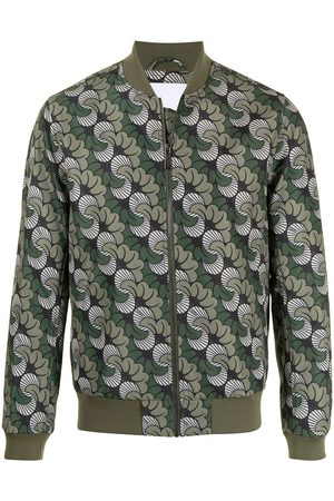Ports V Abstract-print bomber jacket