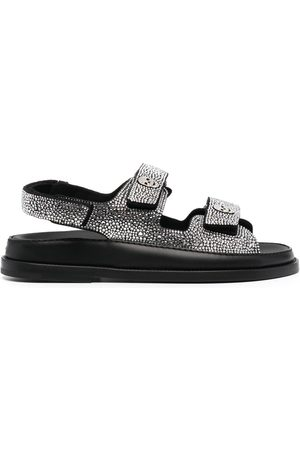 Philipp Plein Crystal-embellished touch-strap sandals