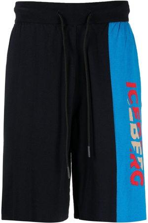 Iceberg Logo knit track shorts