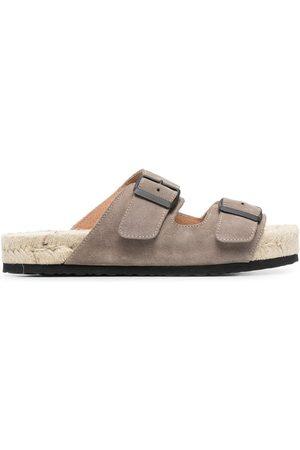 MANEBI Buckled flat sandals
