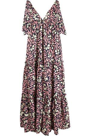 P.a.r.o.s.h. Damen Freizeitkleider - Floral-print sleeveless maxi dress