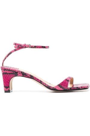 Sergio Rossi Damen Sandalen - Grazie Sergio snakeskin-print sandals