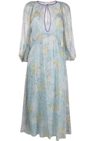 FORTE FORTE Damen Freizeitkleider - Floral-print chiffon midi dress
