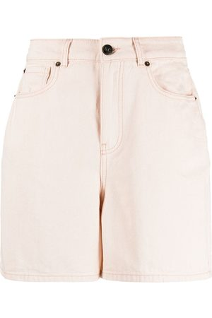 SEMICOUTURE High-waisted denim shorts