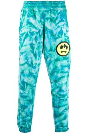 BARROW Tie dye-print slim-fit track pants