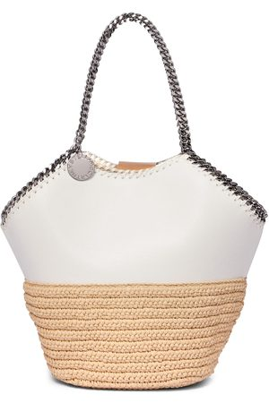 Stella McCartney Tote Falabella Medium mit Raffiabast