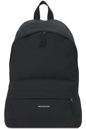 Balenciaga Logo Detail Nylon Backpack