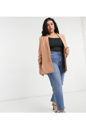 ASOS ASOS DESIGN Curve mix & match tailored suit blazer-Pink
