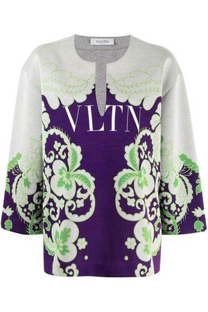 VALENTINO Damen Sweatshirts - VLTN floral-print sweatshirt