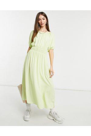 Y.A.S . polka dot midi tea dress in green