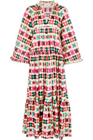 La DoubleJ Damen Freizeitkleider - Dove geometric-print dress