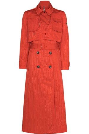 Marine Serre Damen Trenchcoats - Belted-waist midi trench coat