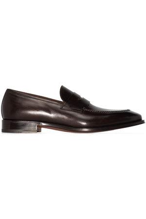 santoni Herren Sneakers - Penny-slot slip-on loafers