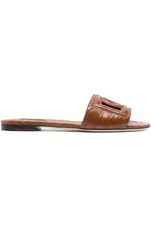 Dolce & Gabbana Damen Sandalen - Logo-embossed mule sandals