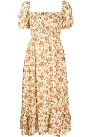 Reformation Meadow floral-print midi dress