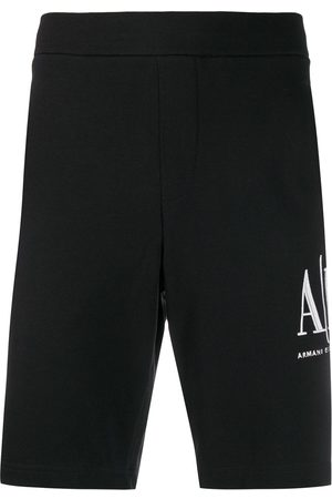 Armani Logo-embroidered track shorts