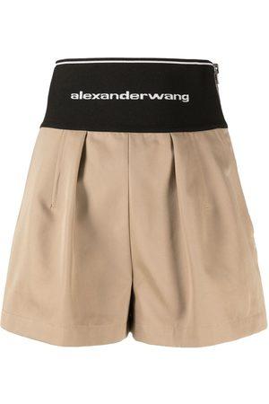 Alexander Wang Damen Shorts - Logo-print waistband