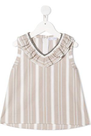 Brunello Cucinelli Kids Mädchen Blusen - Ruffle neckline blouse