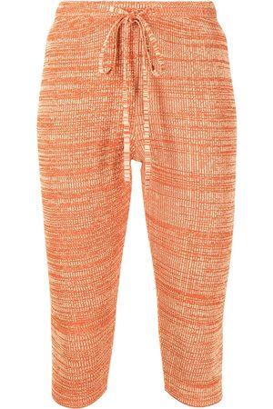 CHRISTOPHER ESBER Damen Leggings & Treggings - Ribbed drawstring shorts