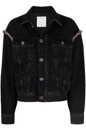 Sandro Crystal-embellished denim jacket