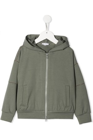 Brunello Cucinelli Mädchen Sommerjacken - Stud-embellished hooded jacket