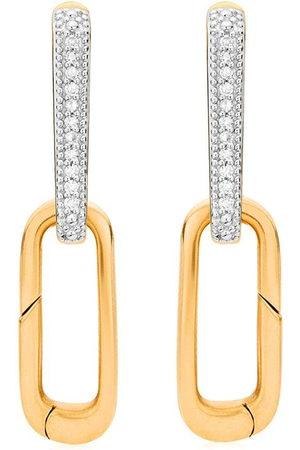 Monica Vinader Damen Ohrringe - 18kt vermeil Alta Capture Charm diamond earrings