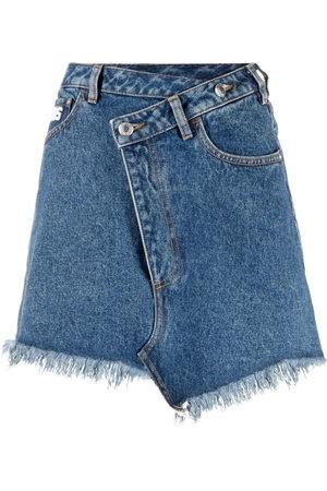 GCDS Asymmetric denim skirt