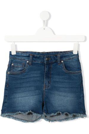John Richmond Junior Shorts - TEEN logo-print denim shorts
