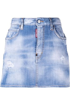 Dsquared2 Light-wash denim skirt