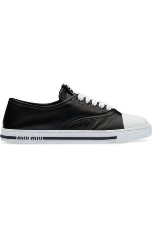 Miu Miu Damen Schnürschuhe - Nappa leather lace-up sneakers