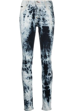 Philipp Plein High-waisted acid-wash jeggings