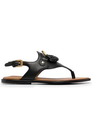 See by Chloé Damen Sandalen - Logo-plaque flat sandals