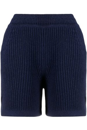 Barrie Ribbed knitted shorts